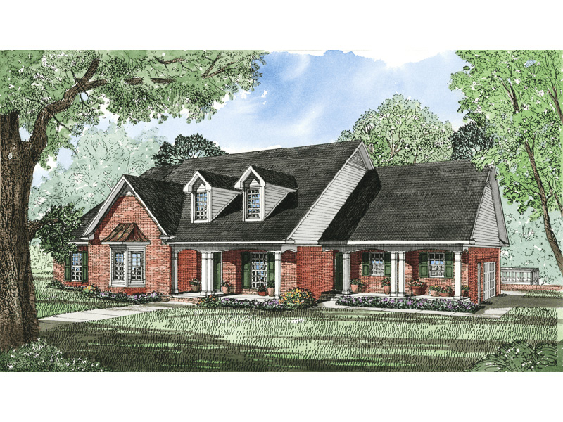 Lake House Plan Front Image - 055D-0035 | House Plans and More