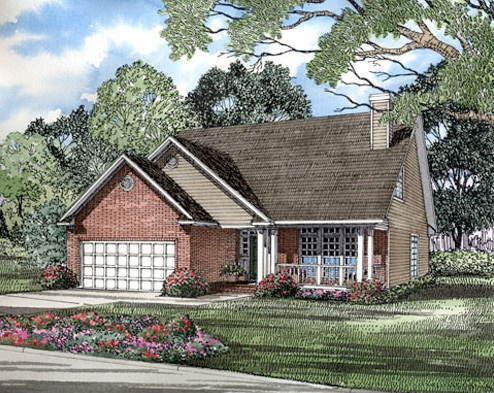 Colonial House Plan Front of Home - 055D-0037 | House Plans and More