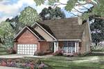 Traditional House Plan Front of Home - 055D-0037 | House Plans and More