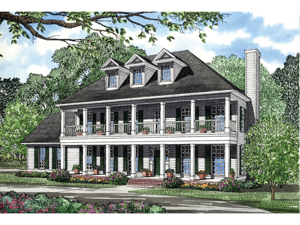 Southern plantation homes plans home design and style Southern plantation house plans
