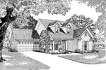 Traditional House Plan Front Image of House - 055D-0039 | House Plans and More