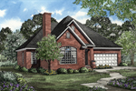 A Large Palladian Arched Window Graces The Front Exterior Of This Brick Ranch
