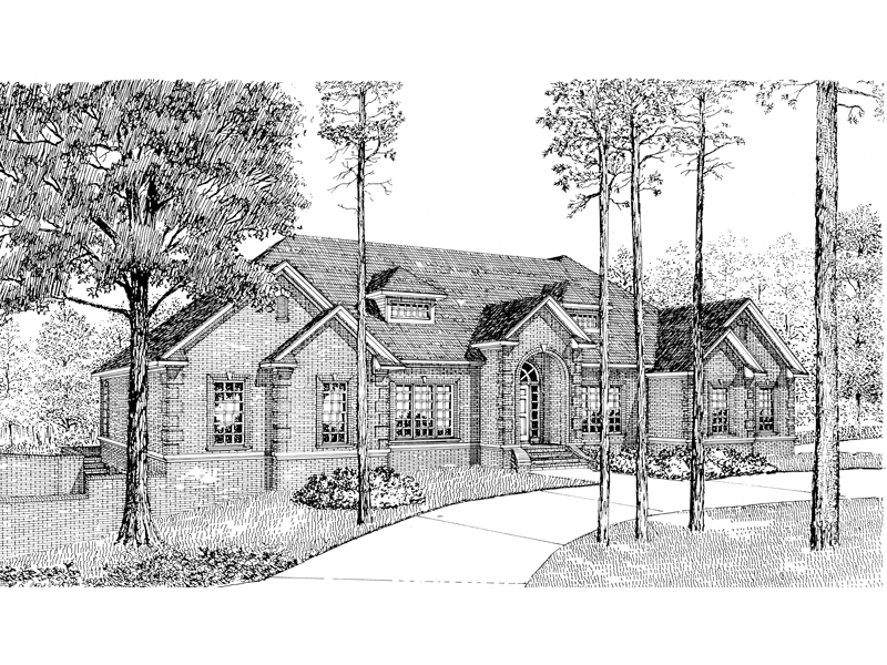 Luxury House Plan Front Image of House - 055D-0047 | House Plans and More