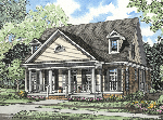 Home With Porch Defined By Columns