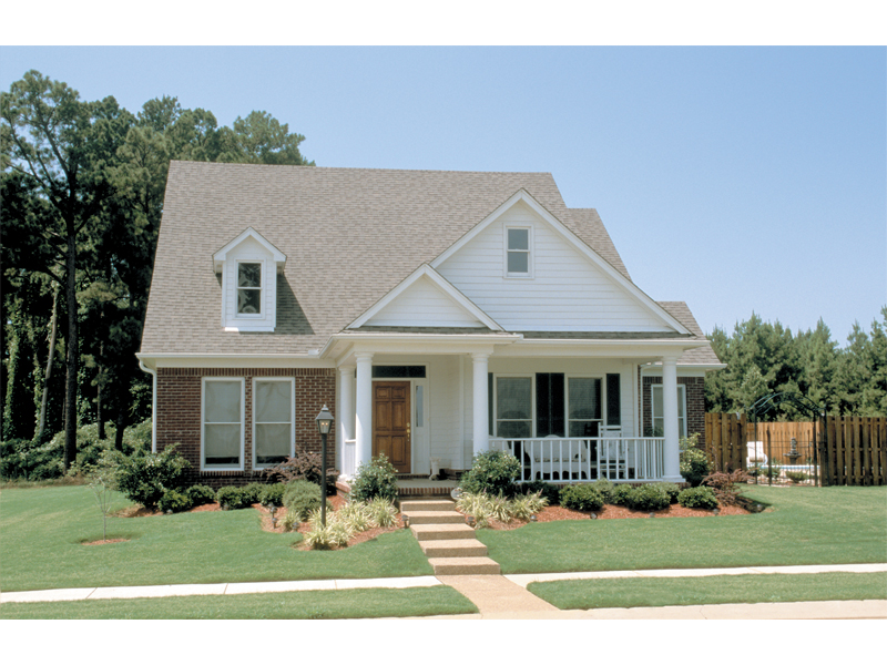 Ranch House Plan Front of Home 055D-0051