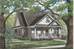 Ranch House Plan Front Image - 055D-0054 | House Plans and More