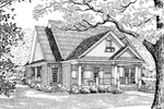 Ranch House Plan Front Image of House - 055D-0054 | House Plans and More