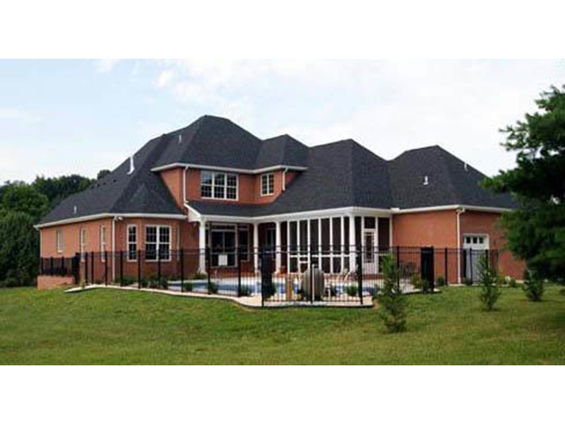 Traditional House Plan Rear Photo 01 - 055D-0054 | House Plans and More