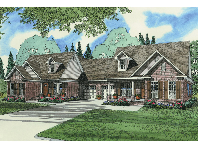 Traditional House Plan Front Image - 055D-0060 | House Plans and More