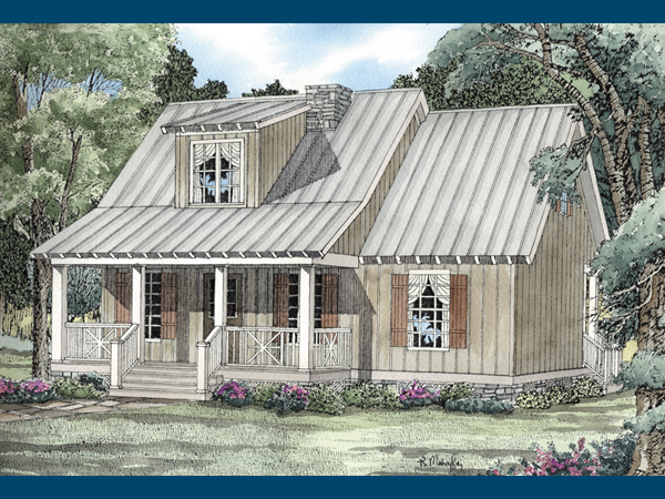Rivers Edge Rustic Cabin Home Plan 055D 0063 House Plans