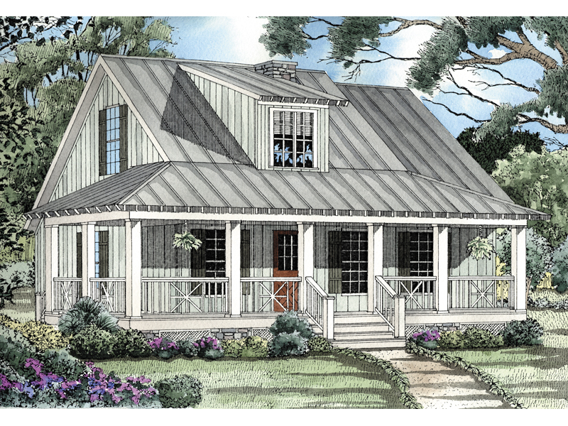 Rustic Home Plan Front of Home 055D-0065