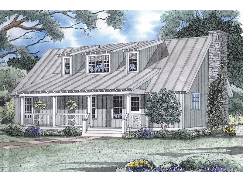 Home's Covered Porch Adds Charm