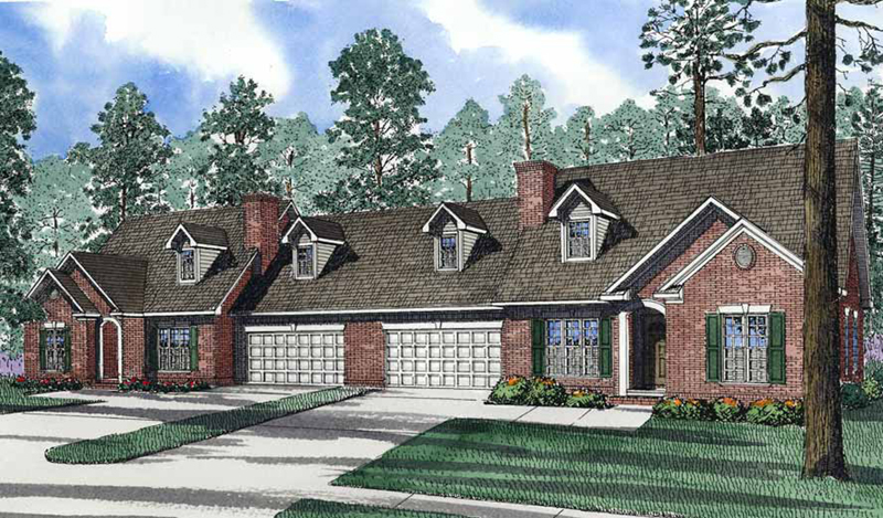 Traditional Multi-Family House Plan With Two Units
