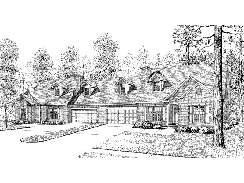 Traditional House Plan Front Image of House - 055D-0075 | House Plans and More