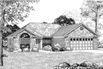 Traditional House Plan Front Image of House - 055D-0080 | House Plans and More