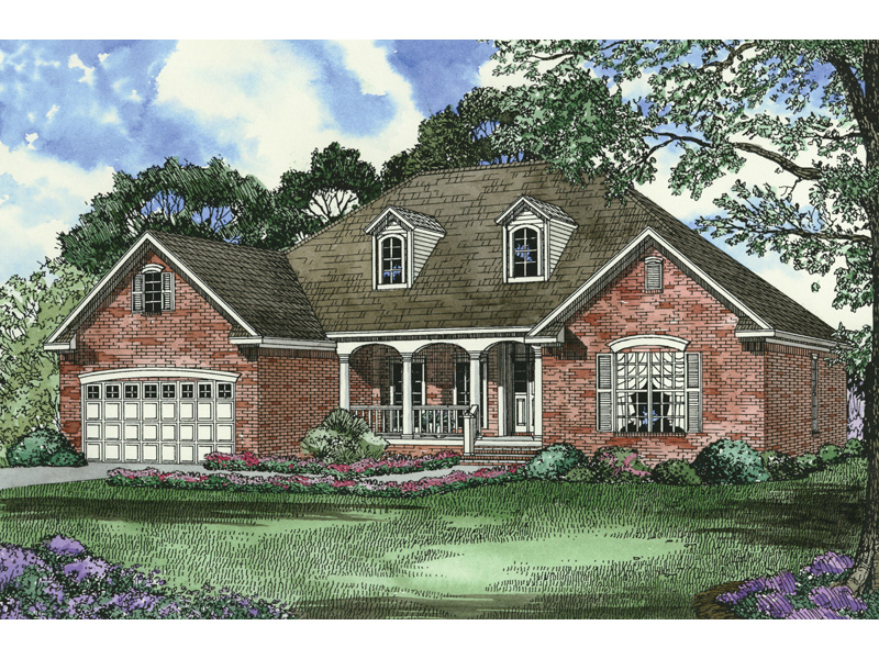 Ranch House Plan Front Image - 055D-0081 | House Plans and More