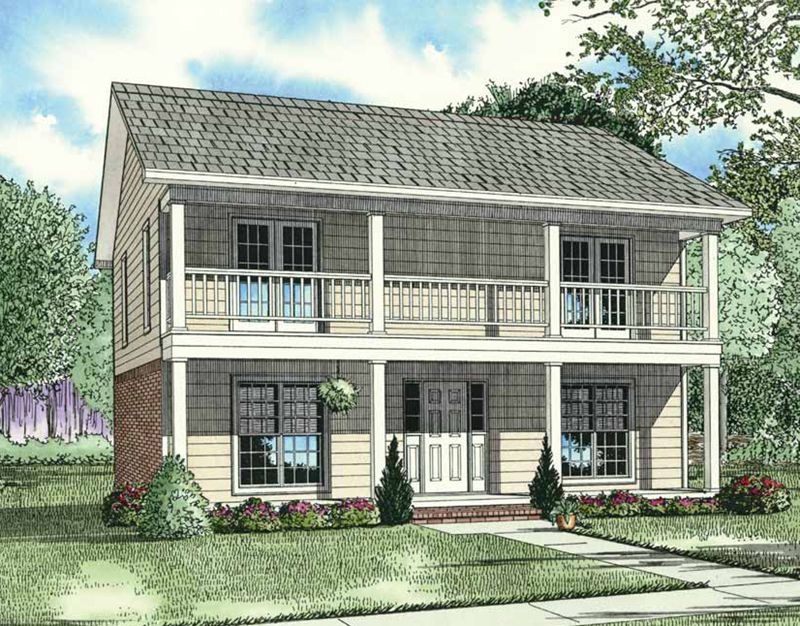 Country House Plan Front of Home - 055D-0082 | House Plans and More