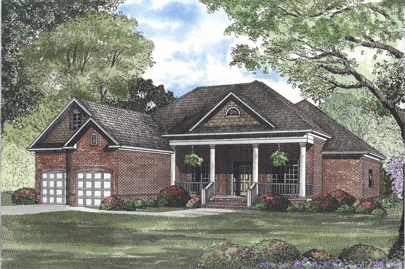 Neoclassical Style Home With Welcoming Covered Front Porch