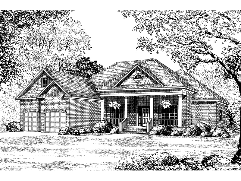 Country House Plan Front Image of House - 055D-0083 | House Plans and More