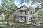 Plantation Style Home With Double Covered Front Porches
