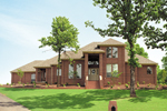 Luxury Prairie Style Two-Story House With All Brick Exterior