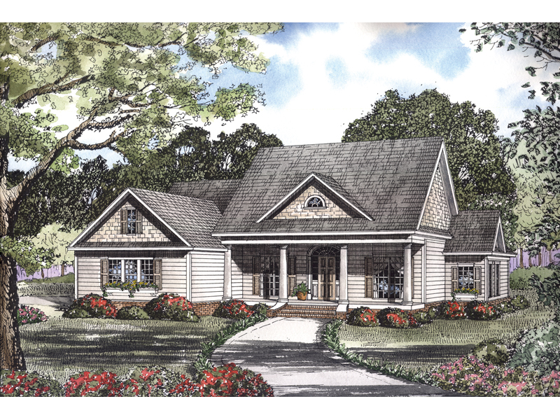 Neoclassical Home Plan Front of Home - 055D-0103 | House Plans and More