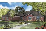 Traditional Brick Ranch With Side Entry Garage