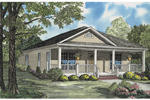 Country Style Cottage Ideal For A Narrow Lot