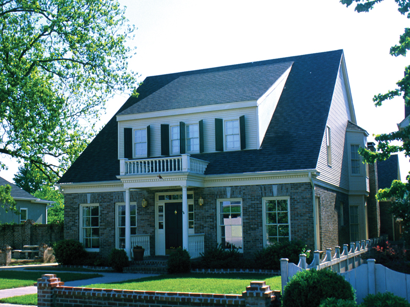 Bungalow Style Two-Story Home With Balbony Covered Porch