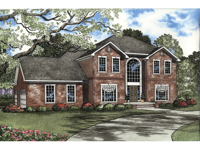 Southern House Plan Front of Home - 055D-0136 | House Plans and More