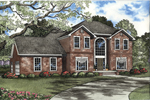 Colonial Floor Plan Front of Home - 055D-0136 | House Plans and More