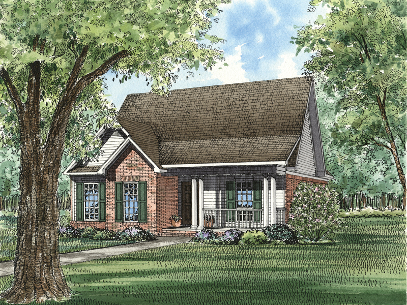 Acadian House Plan Front of Home - 055D-0139 | House Plans and More