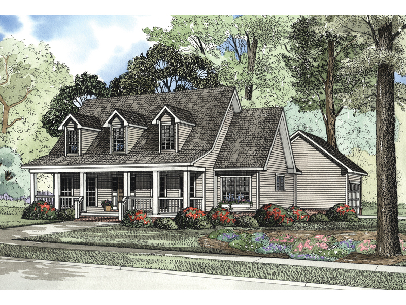 Corgan Country Acadian Home Plan 055D 0156 House Plans and More