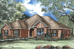 Warm Home Plan With Arched Entry