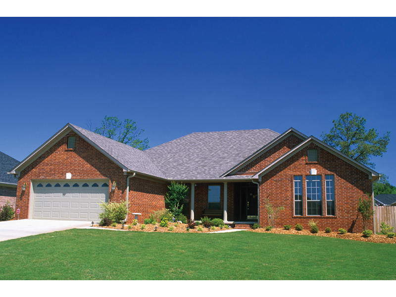 Ranch House Plan Front of Home 055D-0172