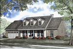 Triple Dormers Add to Colonial Ranch Style