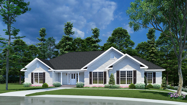 Fairfield lake ranch home plan 055d 0192 house plans and for Ranch lake house plans