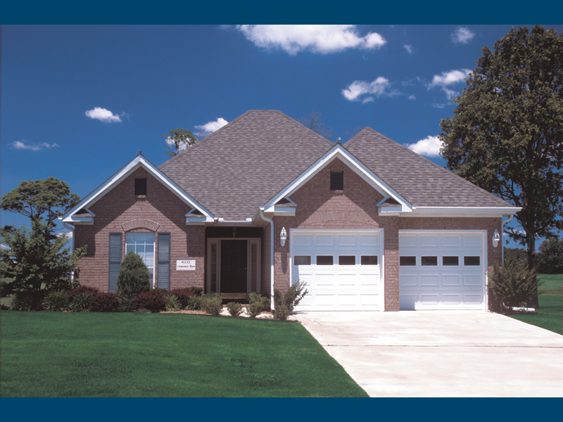 Ranch House Plan Front of Home 055D-0194