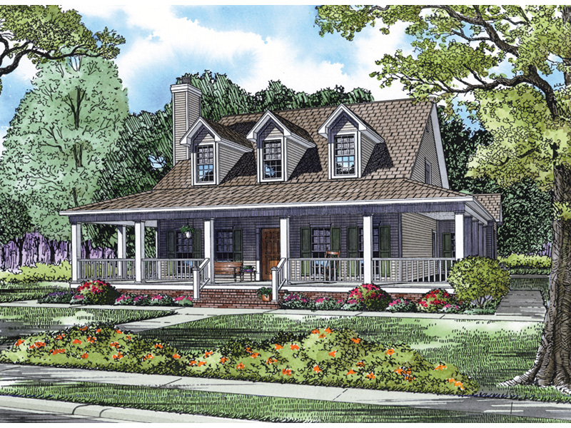 Ranch House Plan Front Image - 055D-0196 | House Plans and More
