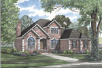 Luxurious brick Two-Story Home With Decorative Corner Quoins