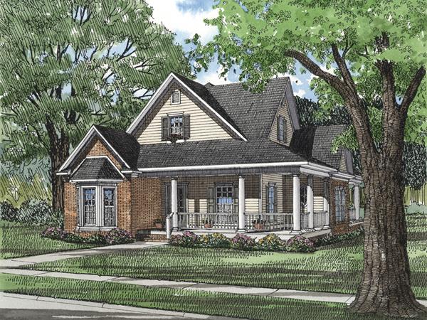 Bonnie terrace acadian home plan 055d 0201 house plans for 2 story acadian house plans