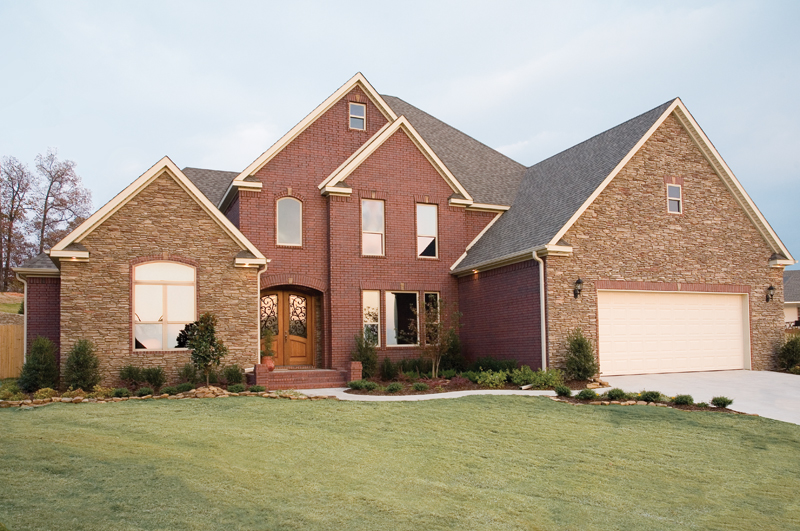Brick And Stone Create Superb Curb Appeal