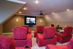 Contemporary House Plan Theater Room Photo 01 - 055D-0202 | House Plans and More
