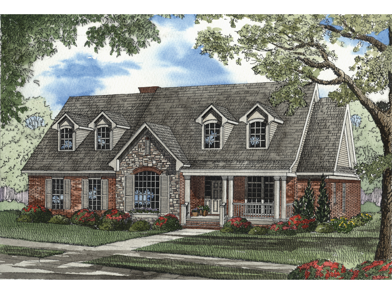 Arts & Crafts House Plan Front Image - 055D-0210 | House Plans and More