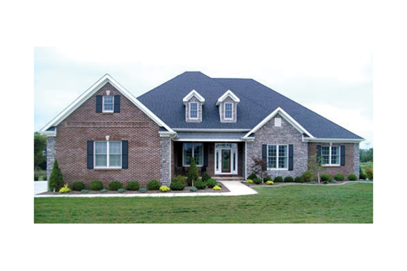 European House Plan Front of Home 055D-0211