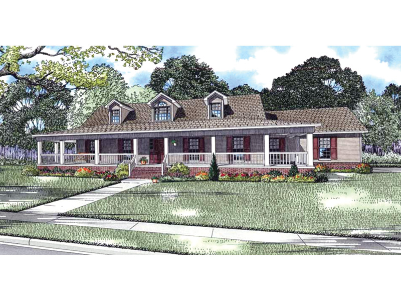 Acadian House Plan Front Image - 055D-0213 | House Plans and More