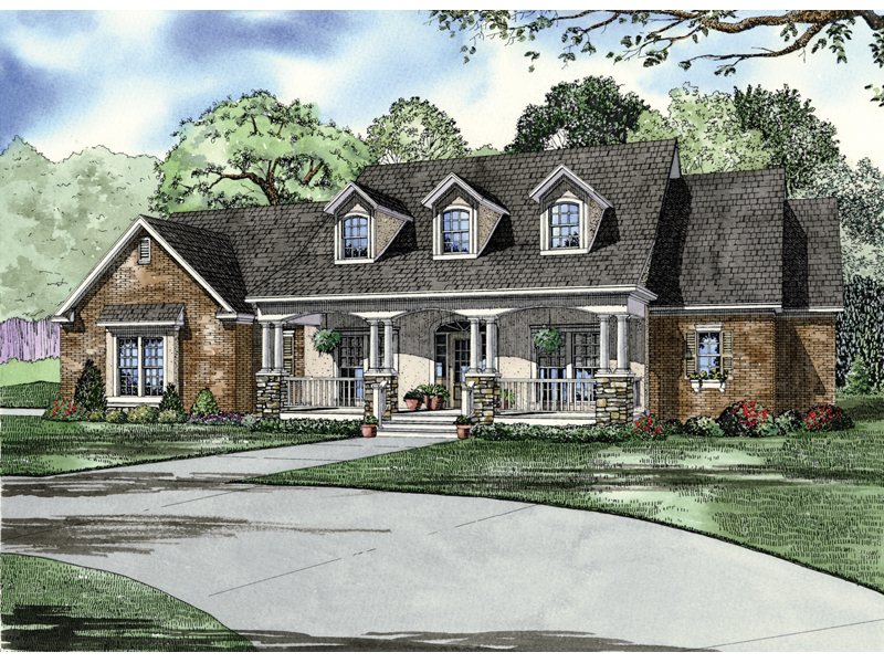 Traditional House Plan Front Image - 055D-0214 | House Plans and More