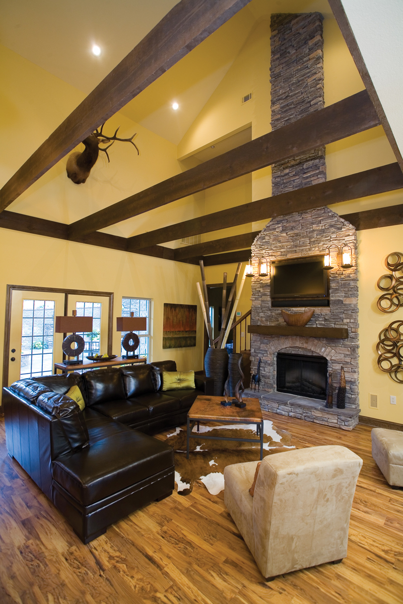 Traditional House Plan Great Room Photo 03 055D-0215