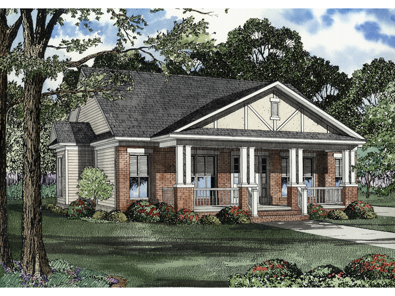 Traditional House Plan Front of Home - 055D-0228 | House Plans and More