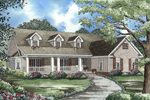 Grand Southern Country Design With Wide Front Porch